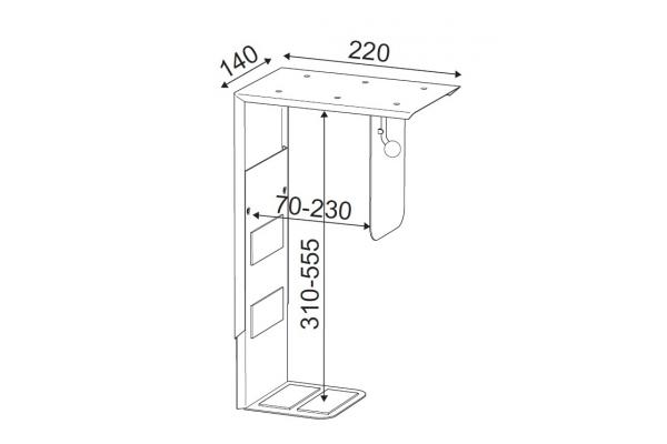 CPU holder TH-02 zwart